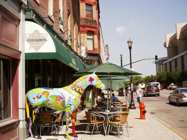 Keeneland horses downtown